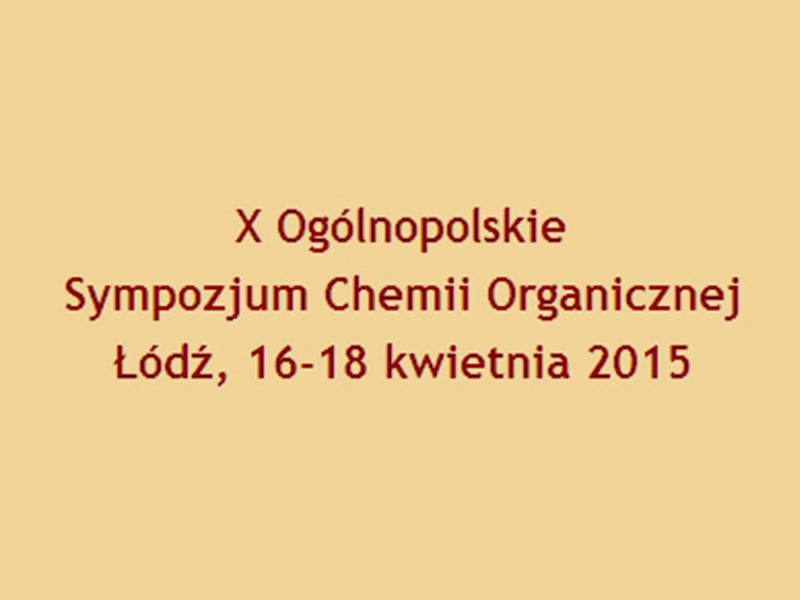 X National Symposium of Organic Chemistry – OSCO X