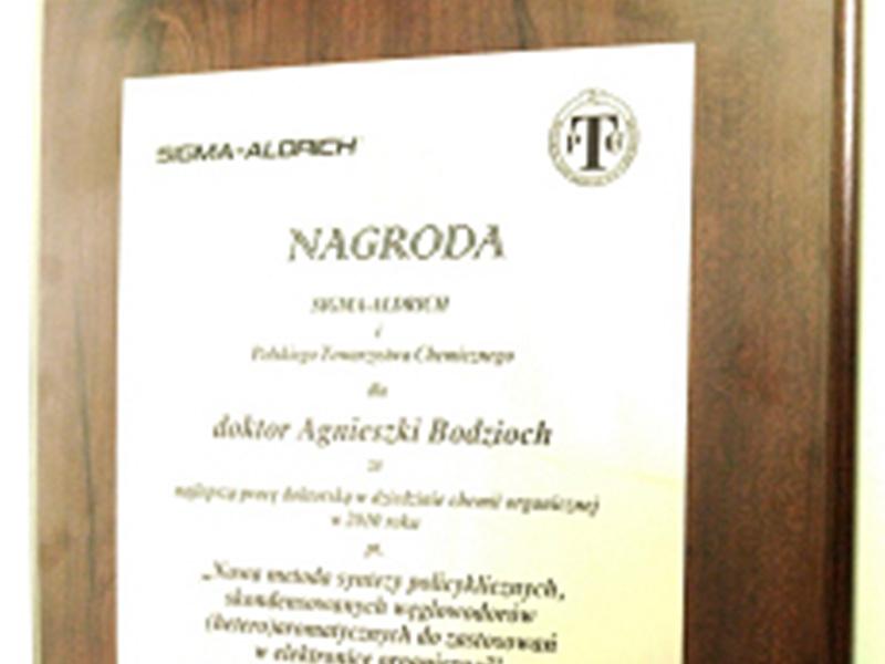 Nagroda PTChem i firmy SIGMA-ALDRICH
